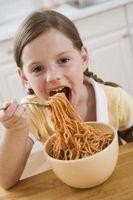 Las ideas de los espaguetis de la noche