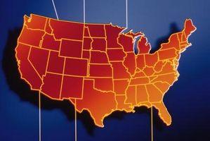 ¿Qué estados fronterizos las zonas de horario central y la montaña?