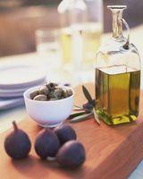 Griegas ingredientes del aderezo