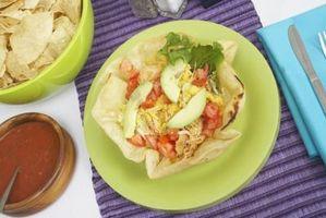Taco ensalada de verduras