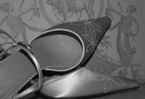 Cómo tinte Dyeable Zapatos