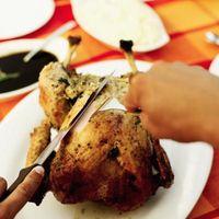 Cómo hacer pollo-se notó una piel crujiente y sabroso