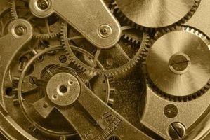 ¿Cuáles son las partes del interior de un reloj?