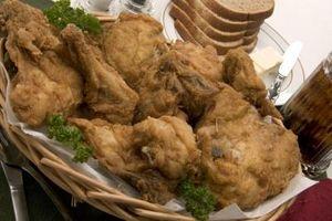 Los alimentos que van con pollo frito