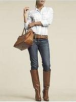 Cómo usar Botas sobre los pantalones vaqueros