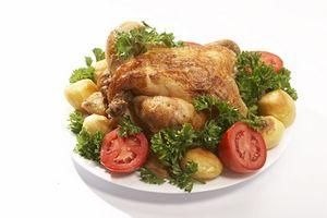 Cómo cocinar un pollo rápidamente Con un asador