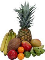 Brochetas de frutas para los niños