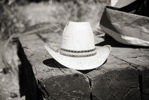 Como prueba de agua un sombrero de vaquero