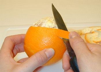 Cómo pelar una naranja