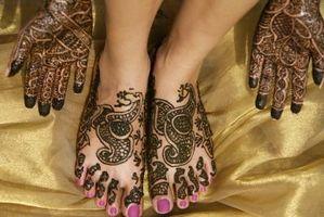 Ideas para un tatuaje de henna en el Pie