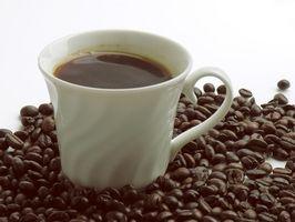 Como prueba de cafeína en el café