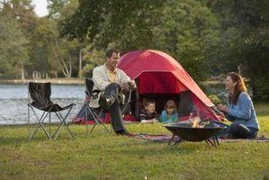 Cómo campamento cerca de Delavan, Wisconsin