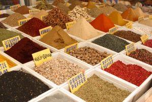 Definición de especias culinarias