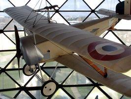 Algunos de los tipos de aviones en el año 1900