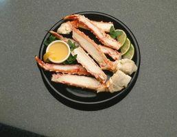 ¿Qué partes de un cangrejo rojo real se pueden comer?