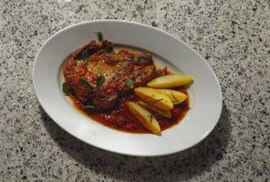 Métodos de cocción para hueso del cerdo tajadas del lomo