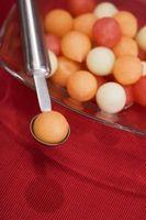 Cómo comer Melón Cantaloupe y en el mismo tiempo