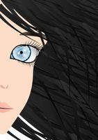 ¿Cómo hacer maquillaje para una persona con los ojos azules y pelo Negro