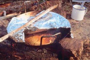 Papel de aluminio de paquetes ideas de la comida para las Guías de Camp