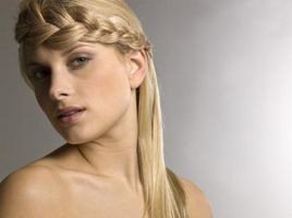 Los peinados trenzados con conchas