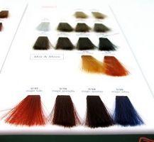 Las instrucciones permanentes Color del pelo