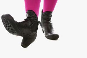 Como cubierta de cuero Desapareció de botas de cuero