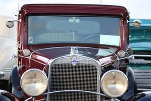 Muestra clásica del coche en Pennsylvania