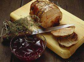 ¿Cuáles son las temperaturas para la cocción lentamente un asado de cerdo?