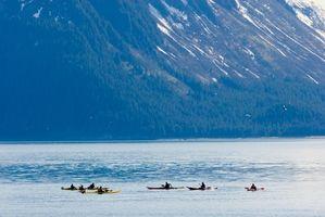 Rutas con pueblos de paso interior de Alaska
