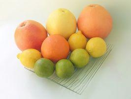 Como prueba de los niveles de acidez de las frutas cítricas
