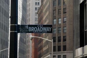 ¿Qué es Broadway en Nueva York?