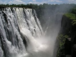 Datos acerca de la Cascada de las cataratas Victoria en África