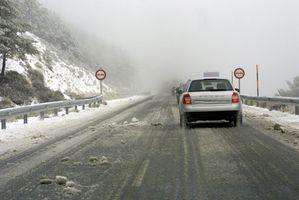 Velocidad segura para conducir sobre hielo