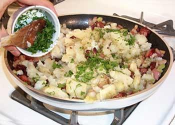Cómo hacer el relleno de la patata