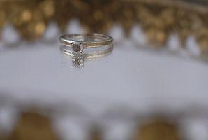 Como montar una piedra preciosa floja en un anillo de ajuste