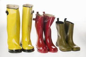 Cómo arreglar botas de goma agrietada