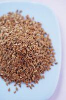 Receta para la harina de linaza molletes en una taza en el microondas