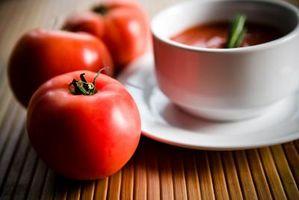 Condensados ingredientes de la sopa de tomate