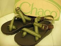 Sobre sandalias Chaco