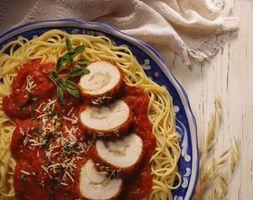 ¿Qué se puede hacer con el pollo y la salsa de espagueti?