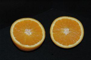 Como el cloro con cáscaras de naranja