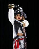 Ideas lindo traje de pirata para niñas