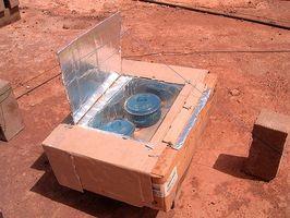 Cómo hacer un horno solar utilizando el vidrio