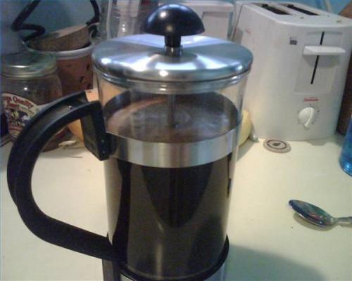 Secreto de hacer una gran taza de café de una prensa francesa