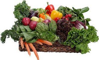 ¿Cuáles son las calificaciones para las frutas y verdura?