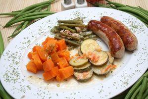 Los alimentos tradicionales alemanes de vacaciones