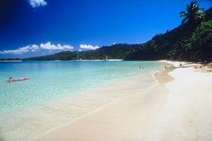 Playas de arena blanca en el Caribe