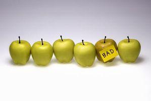 Cómo determinar si una manzana está podrida