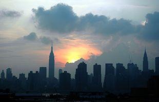 Restaurantes en Nueva York sobre los edificios