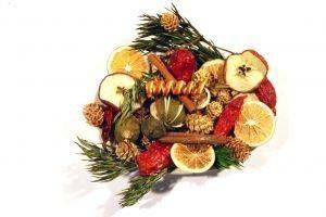 Puntos en como arreglos de frutas comestibles